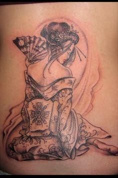 Geisha, geisha tattoo, japanese