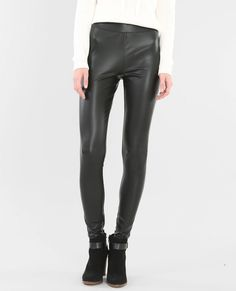 Legging similicuir noir