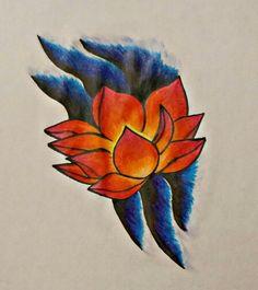Flor de loto, dibujo