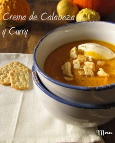 crema de calabaza y curry