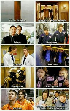 "The many ""jobs"" of Sam and Dean."