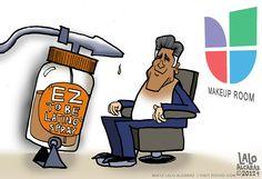 Mitt Romney: EZ To Be Latino Spray (CARTOON)
