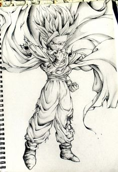 My best sketch from primary school. Use too do a lot of DBZ sketches as a kid
