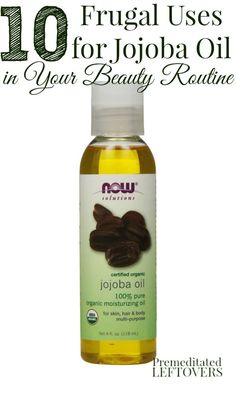 Jojoba oil can make a wonderful addition to your health and beauty routine. Here are 10 Frugal Uses for Jojoba Oil in Your Beauty Routine