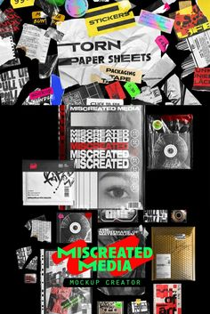 A unique collection of plastic wrap textures, letterheads, posters, packages, duct tape pieces, torn paper sheets, stickers, and a wide specter of trendy looking items. Perfect for making bold, stand out contemporary designs. Mockup Creator, Torn Paper, Free Photoshop, Plastic Wrap, Free Graphics, Mockup Templates, Letterhead, Duct Tape, Contemporary Design