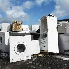"""All appliances or """"white goods"""" (clothes washers/dryers, refrigerators, ovens, water heaters, air conditioners, etc) become valuable sources of scrap metal when they are no longer wanted. However, some components in appliances contain hazardous materials that can damage human health and the environment if they are not removed and properly managed.   http://alisalrecycler.com/appliances-disposal  #electronic #waste #disposal #laptop #shredder#shredding"""