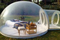 "coolthingstobuyfor: ""This Inflatable Bubble House Will Defy Social Science! """