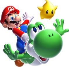 Nintendo - Mario Bros - Mario Yoshi Peel and Stick Giant Wall Decal -