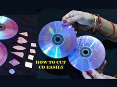 How To Cut CD DVD Easily For Craft - 3 Easy Method - CD craft - Best out of waste, In this video tutorial you will be able to learn how to cut CD & DVD into . Recycled Cd Crafts, Old Cd Crafts, Easy Crafts, Cd Mosaic, Mosaic Crafts, Mosaic Birdbath, Mosaic Projects, Cd Project, Cd Diy