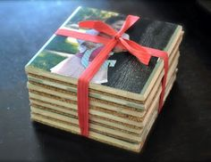 Mod podge picture coasters