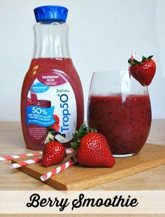 Trop50 Summertime Berry Smoothie Recipe! #ad #girlsnightin