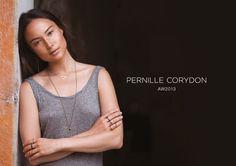 Small A5 display + photography + logo design. Client: Pernille Corydon Jewellery, Denmark