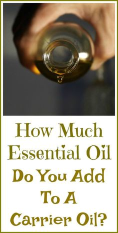 How much essential oil to add to a carrier oil? The answer might surprise you, because essential oils are so highly concentrated. Essential Oil Distiller, Essential Oil Carrier Oils, Essential Oils 101, Essential Oil Perfume, Essential Oil Diffuser Blends, How To Make Oil, Massage Oil, Organic Oil, Essentials
