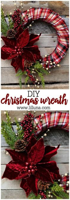 idées de couronnes pour noel DIY Elegant Christmas Wreath by Blooming Homestead – make a beautiful, personalized wreath for the holidays, using just a few simple supplies! Elegant Christmas, Noel Christmas, Christmas Ornaments, Christmas 2019, Christmas Ideas, Make A Christmas Wreath, Beautiful Christmas, Christmas Tables, Nordic Christmas