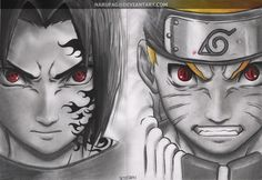 naruto vs sasuke by narufag.deviantart.com on @DeviantArt