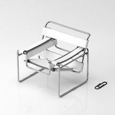 iBacana - Cadeira Wassily Branca