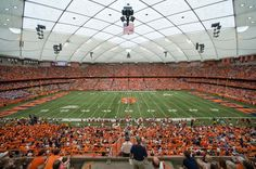 4 home opening game @ Cartier Dome- Syracuse University College Years, College Campus, College Fun, College Life, College Football, Syracuse Football, Syracuse University, Syracuse New York