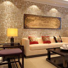 Ретро обои камень из красного кирпича 3 d обои ПВХ водонепроницаемый стены настенной росписи декора дома для кухни тиснением винилового рулона 0,53 м