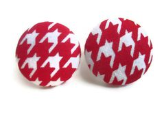 These fabric-covered button earrings are perfect for any occasion. Give these earrings as a birthday, wedding, anniversary, or holiday gift! These earrings are so light weight that you'll forget your even wearing them! Perfect for individuals who can't tolerate heavy earrings.  , $11.00