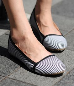 Striped Espadrille Slip-ons