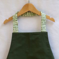 Olive Youth Apron, Montessori Style, Sister Parish Trim, by LilaKids, $32.00