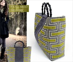 Designer Handle Tote: Luxe Style For Less | Sew4Home