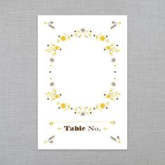 ICE CREAM SOCIAL • Rustic Romance • Ready-Made Collection Shoppe: Table Number • Letterpress • Register & receive FREE SHIPPING off your 1st Order :)