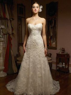 Sweetheart Casablanca 1827 Lace A-line Gown; there's something about this one that made my heart skip a beat.