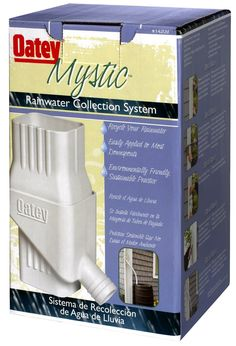 Oatey 14209 Mystic Rainwater Collection System Downspout Gutter Diverter Kit * You can find more details by visiting the image link. Rainwater Harvesting System, Ste Marguerite, Rain Diverter, Rain Barrel System, Water Collection System, Water From Air, Water Storage, Wood Storage, Vegetable Gardening