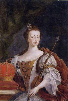 * Retrato de D. Maria I * (by José Leandro de Carvalho).