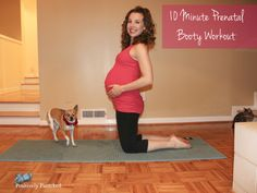 10 minute third trimester glute workout