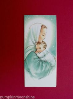 53 best charlotte byj images on pinterest in 2018 charlotte unused charlot byj byi xmas greeting card madonna holding baby jesus lovely m4hsunfo