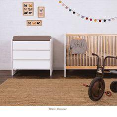 Oeuf Robin Nursery  #oeufnyc #nursery #dresser #crib #baby