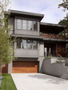 Spaces Exterior House Colors With Brown Roof Design, Pictures, Remodel, Decor and Ideas - page 37.... Darker trim/siding