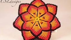This is a tutorial on how to make a macrame mandala flower. Please feel free to give it a go yourself and I hope you enjoy. T-pins: . Macrame Earrings, Macrame Jewelry, Macrame Bracelets, Loom Bracelets, Macrame Owl, Macrame Knots, Yarn Crafts, Diy And Crafts, Macrame Youtube