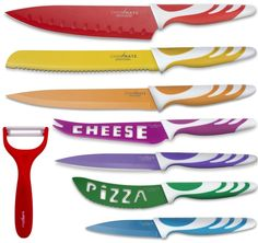 (**I love this knife set mainly because it looks more cheerful than typical ones that look like weapons**) This week: Ice cream machines, beer pong catapults, and enormous dog toys.