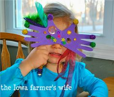 Fun kids Mardi Gras craft idea.