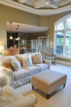 Family Room Painted with a Side of Painter's Remorse Living Room Furniture Arrangement, Living Room Furniture Layout, New Furniture, Fireplace Furniture, Living Room Plan, Farmhouse Dining Chairs, Room Planning, Beautiful Living Rooms, Chairs For Sale