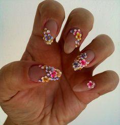 Loved this design on stilletos nails Glam Nails, 3d Nails, Love Nails, Beauty Nails, Pretty Nails, Nail Art Designs, 3d Flower Nails, Nails Only, Tips & Tricks
