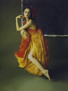 How ethereally beautiful are these images by photographer Liliroze ? They remind me of fine art paintings by the great masters . Color Photography, Fashion Photography, Orange Twist, Fashion Cover, Frou Frou, Classy And Fabulous, Yellow Dress, Belle Photo, Editorial Fashion