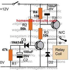 Simple Delay Timer Circuits Explained | Homemade Circuit Projects Arduino Circuit, Arduino Led, Dc Circuit, Simple Circuit, Circuit Design, Basic Electronic Circuits, Electronic Circuit Projects, Electronic Schematics, Electronics Projects