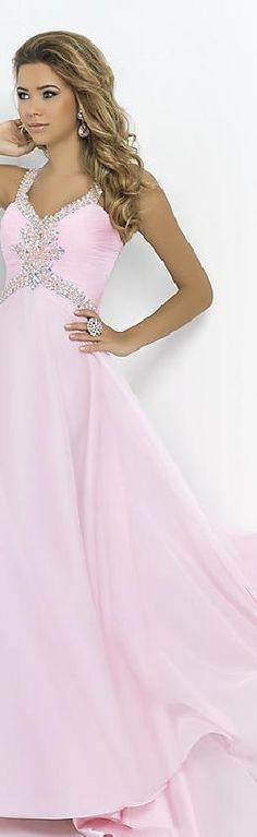 Sexy Natural Long A-Line Sleeveless Chiffon Evening Dresses Sale bestlovedresses16009 #promdress
