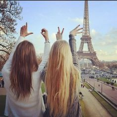 blonde-brunette friends love. This will be me someday going with my friends and traveling <3