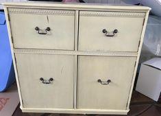 Custom Painted Console Cabinet w Greek Key Design