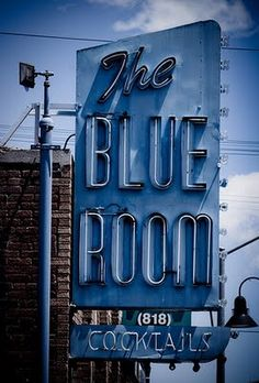 the blue room ... w/ cocktails