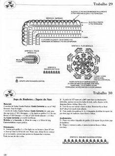 banheiro - flores c/ canto | Receitas do Croche Croche!