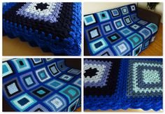 """Why not treat yourself or someone you love to this beautiful blue crochet throw blanket. Measuring 50"""" x 50"""" (130cm x 130cm) this throw blanket can be draped over the back of your chair or couch for instant cosy or snuggled under for relaxation & warmth"""