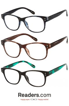 BEST seller! This retro frame is slightly oversized to give it a youthful look. Subtle colors give you options outside of basic black. | The Bates | Readers.com #glasses