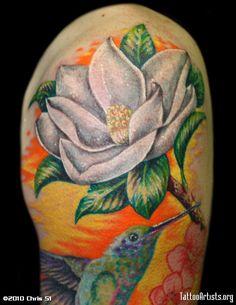 magnolia flower tattoo men - photo #7