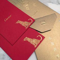 Pocket Envelopes, Card Envelopes, Stationery Design, Invitation Design, Chinese Red Envelope, Cartier, Chinese New Year Design, Red Packet, Leaflet Design